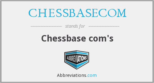 What does CHESSBASECOM stand for?