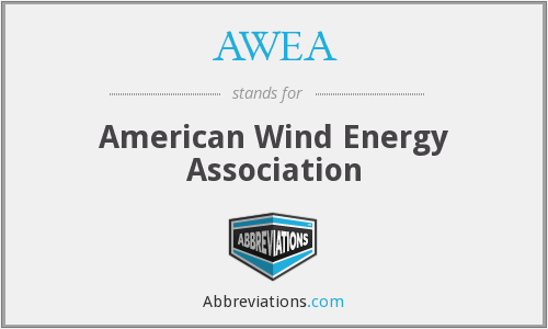 What does AWEA stand for?