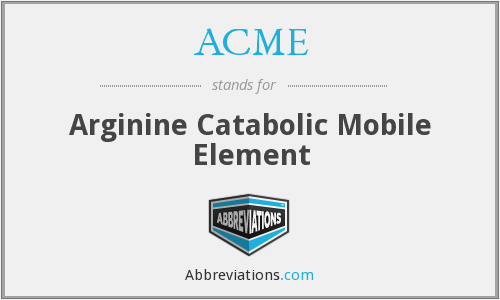 ACME - Arginine Catabolic Mobile Element