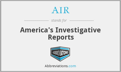 AIR - America's Investigative Reports