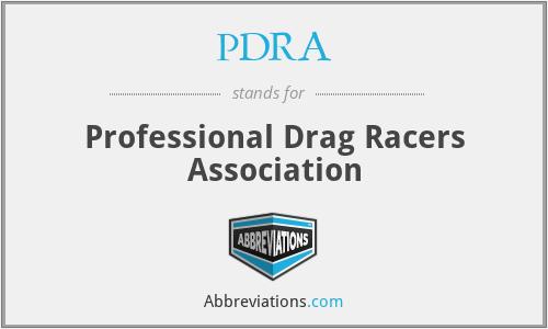 PDRA - Professional Drag Racers Association