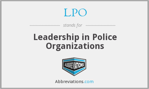 LPO - Leadership in Police Organizations