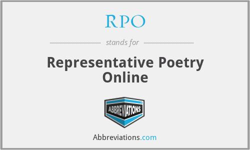 RPO - Representative Poetry Online