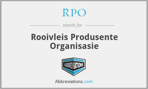 RPO - Rooivleis Produsente Organisasie