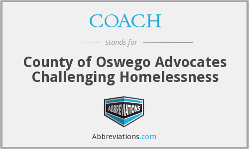 COACH - County of Oswego Advocates Challenging Homelessness