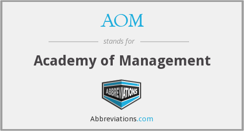 What does AOM stand for?