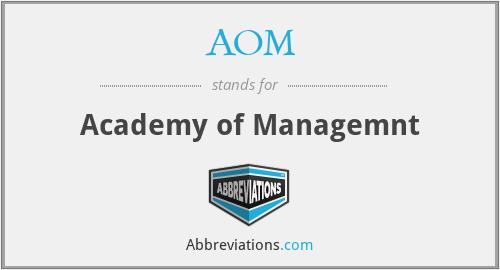 AOM - Academy of Managemnt