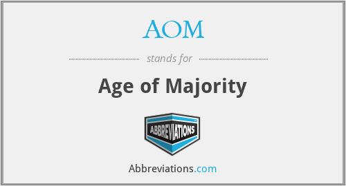 AOM - Age of Majority