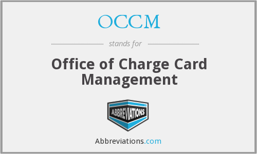 What does OCCM stand for?