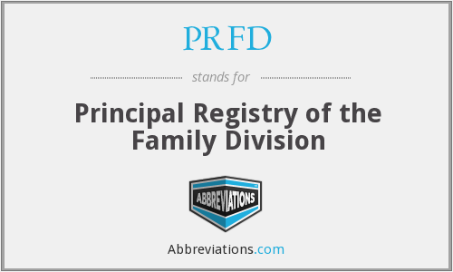 PRFD - Principal Registry of the Family Division