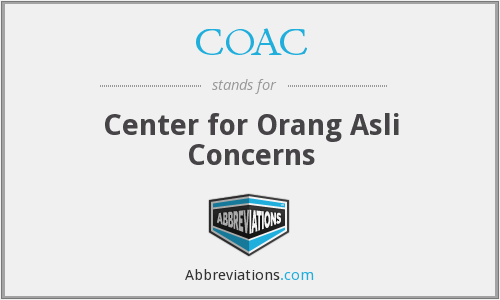 COAC - Center for Orang Asli Concerns
