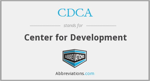 CDCA - Center for Development