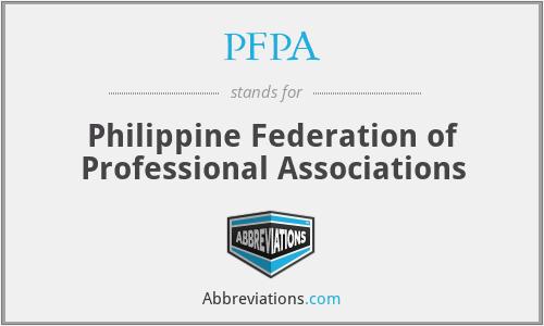 PFPA - Philippine Federation of Professional Associations