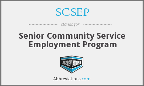 What does SCSEP stand for?