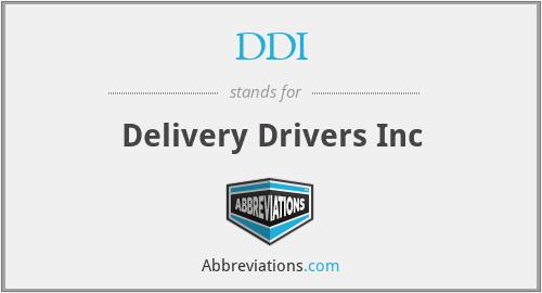 DDI - Delivery Drivers Inc