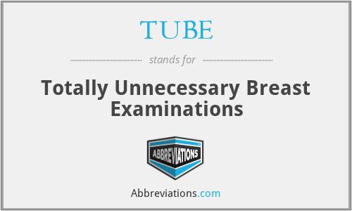TUBE - Totally Unnecessary Breast Examinations