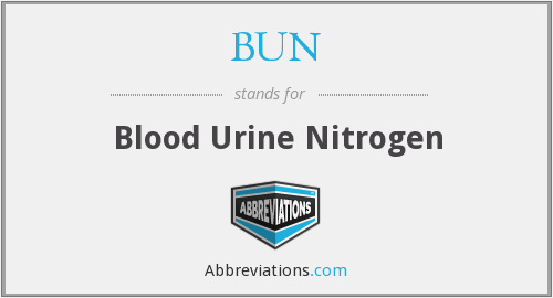 BUN - blood urine nitrogen
