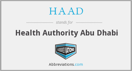 What does HAAD stand for?