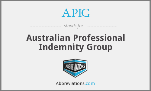 What does APIG stand for?
