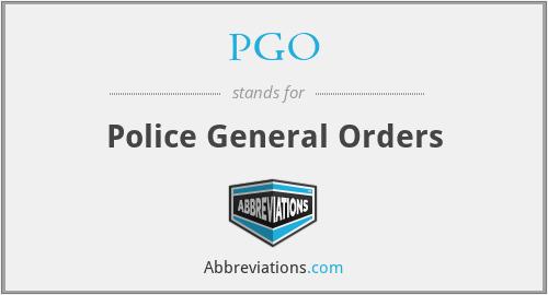 PGO - Police General Orders