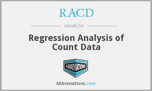 RACD - Regression Analysis of Count Data