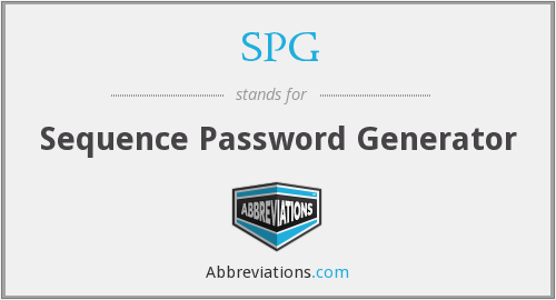 SPG - Sequence Password Generator