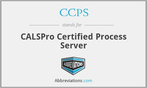 CCPS - CALSPro Certified Process Server