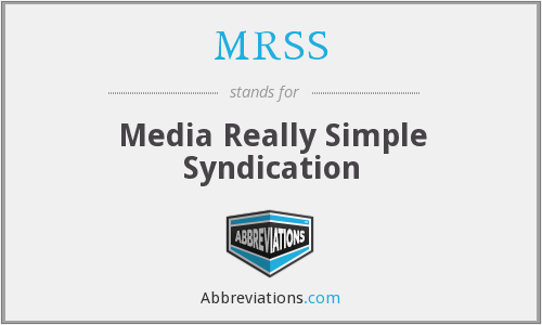 MRSS - Media Really Simple Syndication