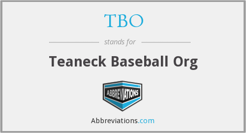 TBO - Teaneck Baseball Org