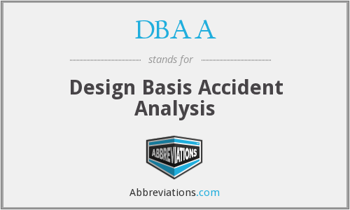 DBAA - Design Basis Accident Analysis