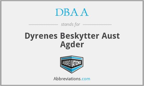 DBAA - Dyrenes Beskytter Aust Agder