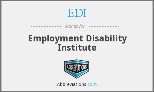 EDI - Employment Disability Institute