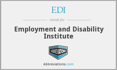 EDI - Employment and Disability Institute