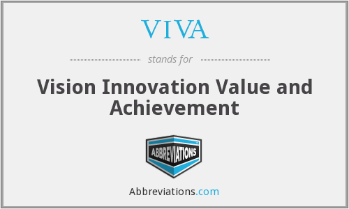VIVA - Vision Innovation Value and Achievement