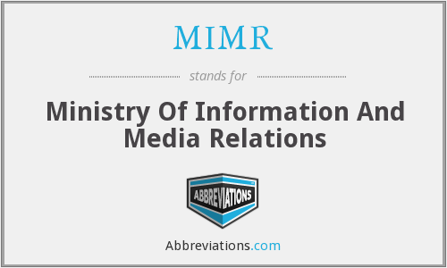 MIMR - Ministry Of Information And Media Relations