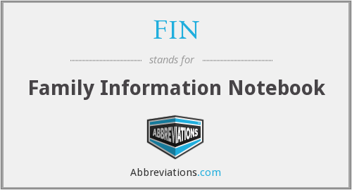 FIN - Family Information Notebook
