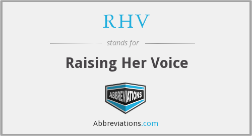 What does RHV stand for?