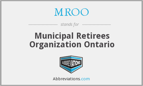 What does MROO stand for?