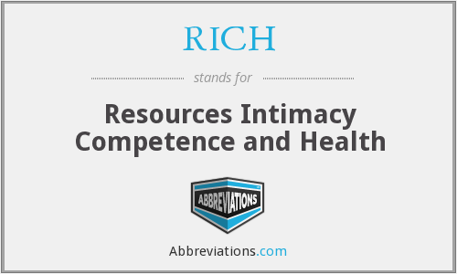 RICH - Resources Intimacy Competence and Health