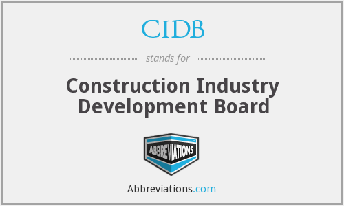 What does CIDB stand for?