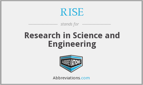 What does RISE stand for? — Page #2