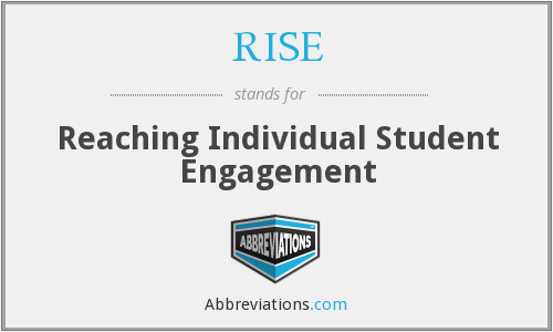 RISE - Reaching Individual Student Engagement