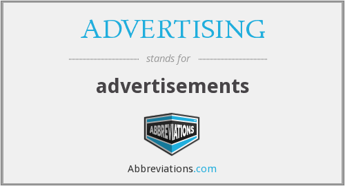What does ADVERTISING stand for?