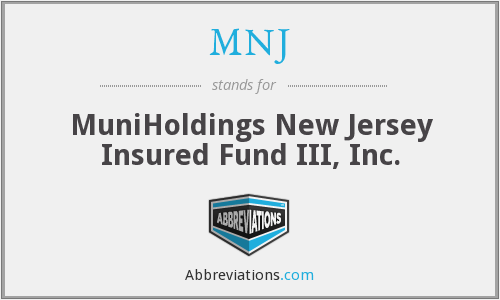 MNJ - MuniHoldings New Jersey Insured Fund III, Inc.