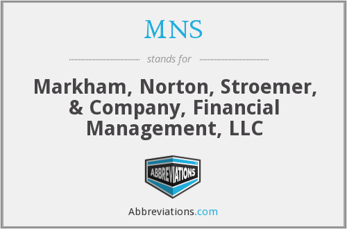 MNS - Markham, Norton, Stroemer, & Company, Financial Management, LLC