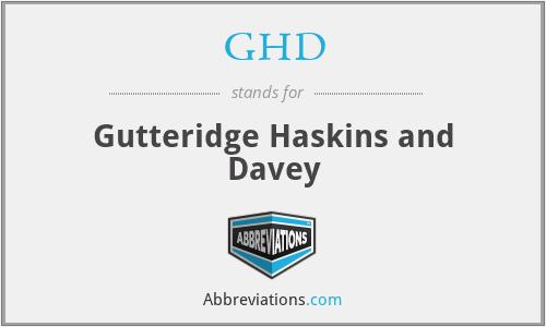 GHD - Gutteridge Haskins and Davey