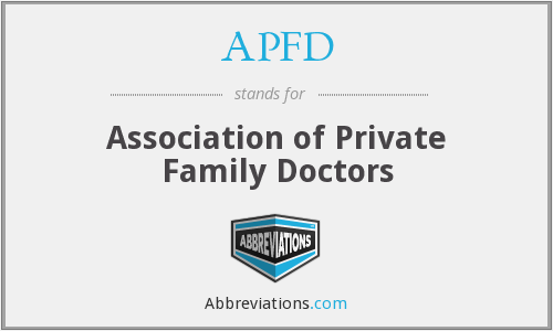 APFD - Association of Private Family Doctors