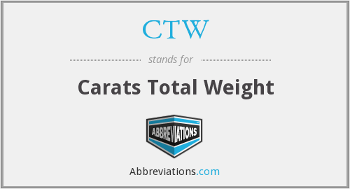 CTW - Carats Total Weight