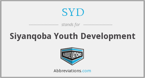 SYD - Siyanqoba Youth Development