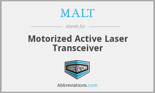 MALT - Motorized Active Laser Transceiver